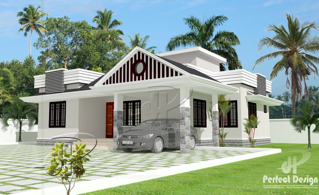 Embrace The Unique Features Of A Classical Two Bedroom Single Floor House Design With A Single Floor House Design Kerala House Design Small House Design Plans