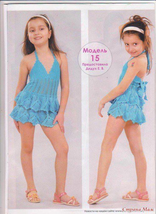Vestido tejido para niñas las grandes