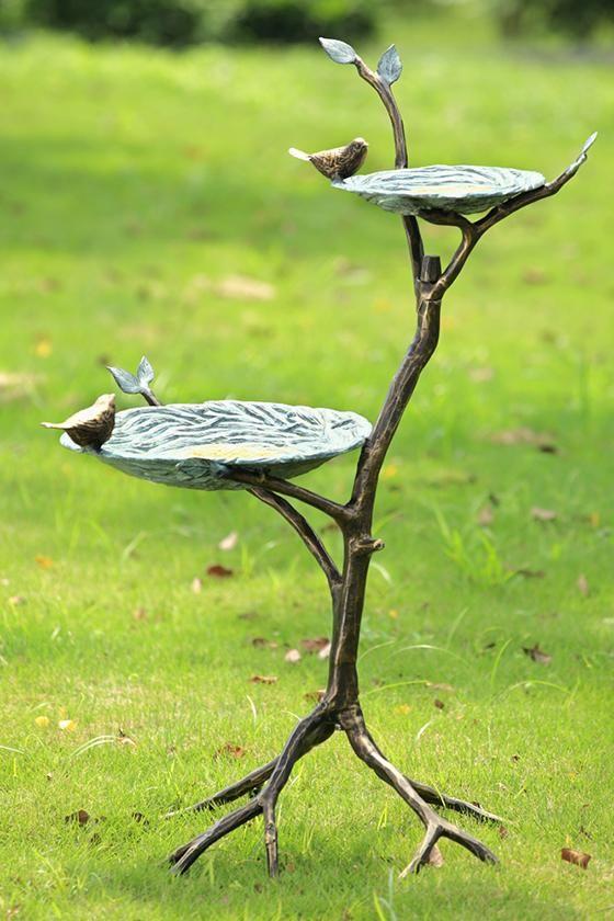 Gossiping Birds Bird Feeder Bird Feeder Metal Bird Bath Garden Statuary Metal Bird Bath Bird Bath Bird Bath Garden