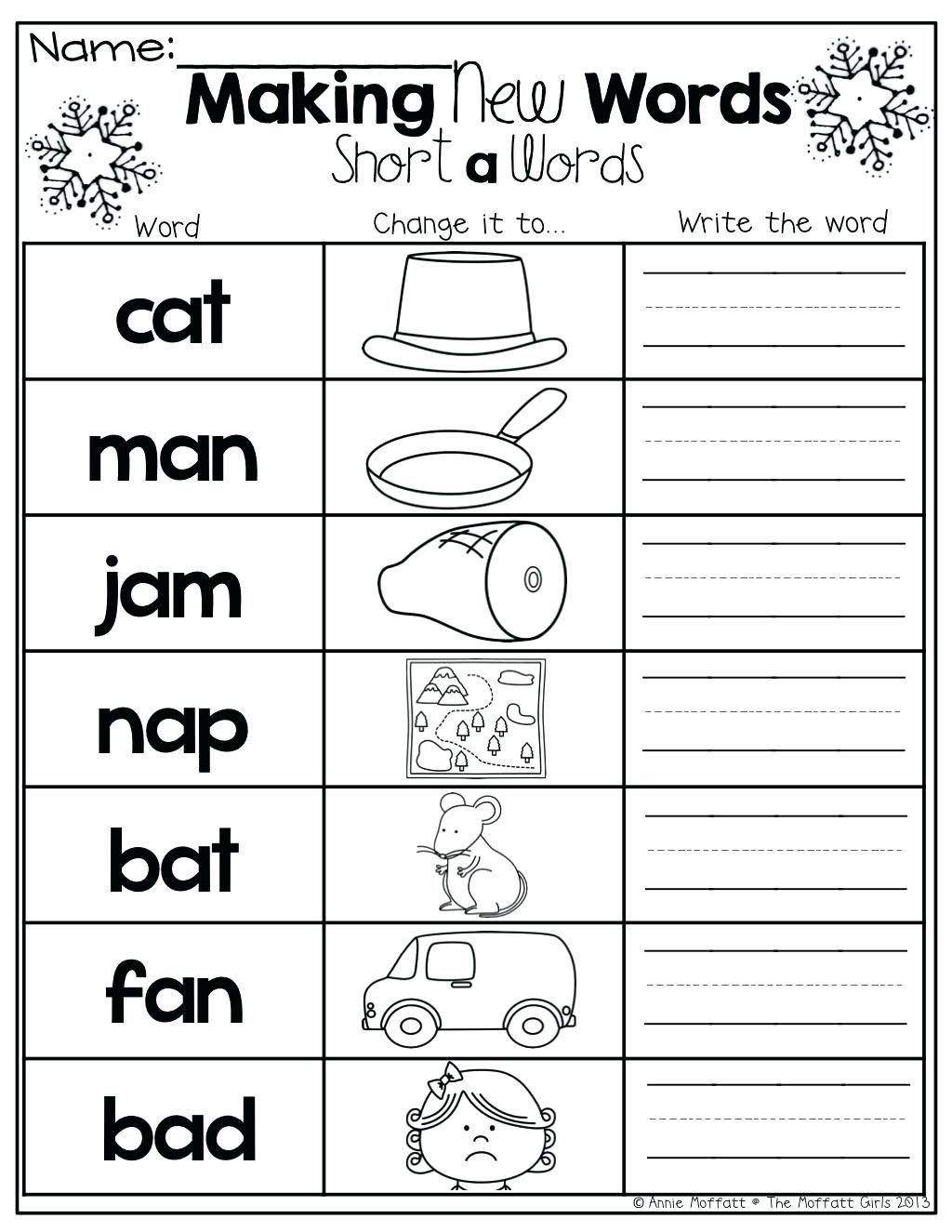 20 Middle Sounds Worksheets For Kindergarten In