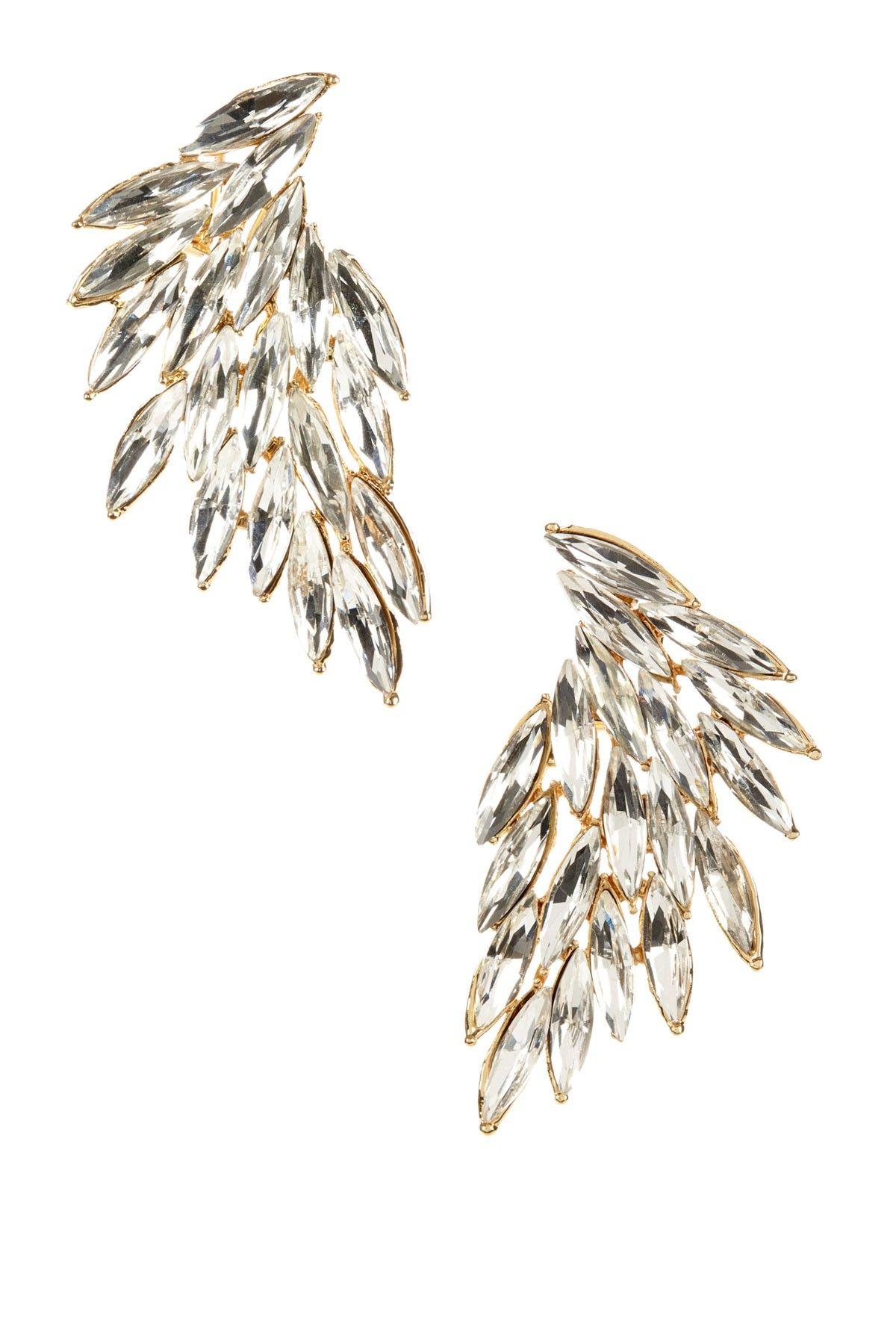 wing crystal earrings
