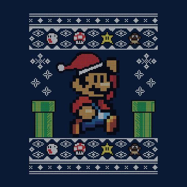 Christmas Super Mario Pixel Knit Gamers Pinterest Fan Art