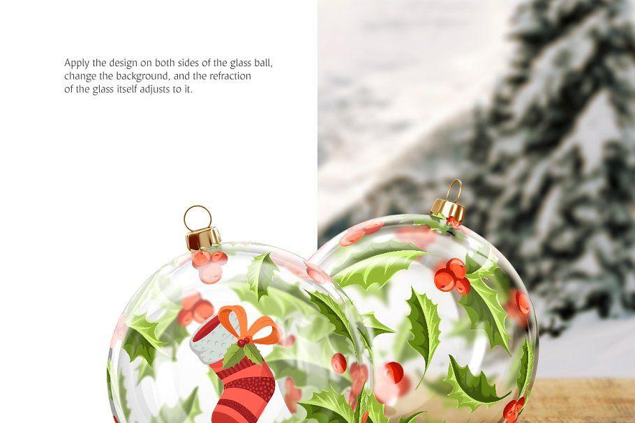 Christmas Ball Animated Mockups Set Christmas Balls Christmas Pattern Colorful Backgrounds