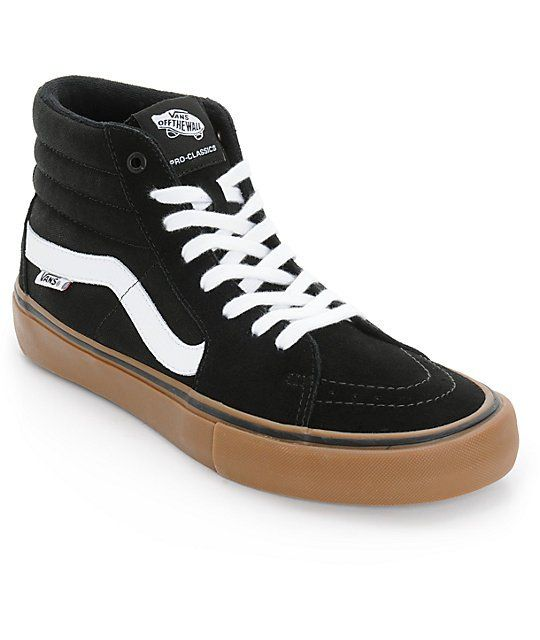 1aec2611629ec3 Grab a classic Vans style with an updated Vans Pro footbed for excellent  impact protection in a protective padded high top silhouette and a Vans Pro  Vulc ...