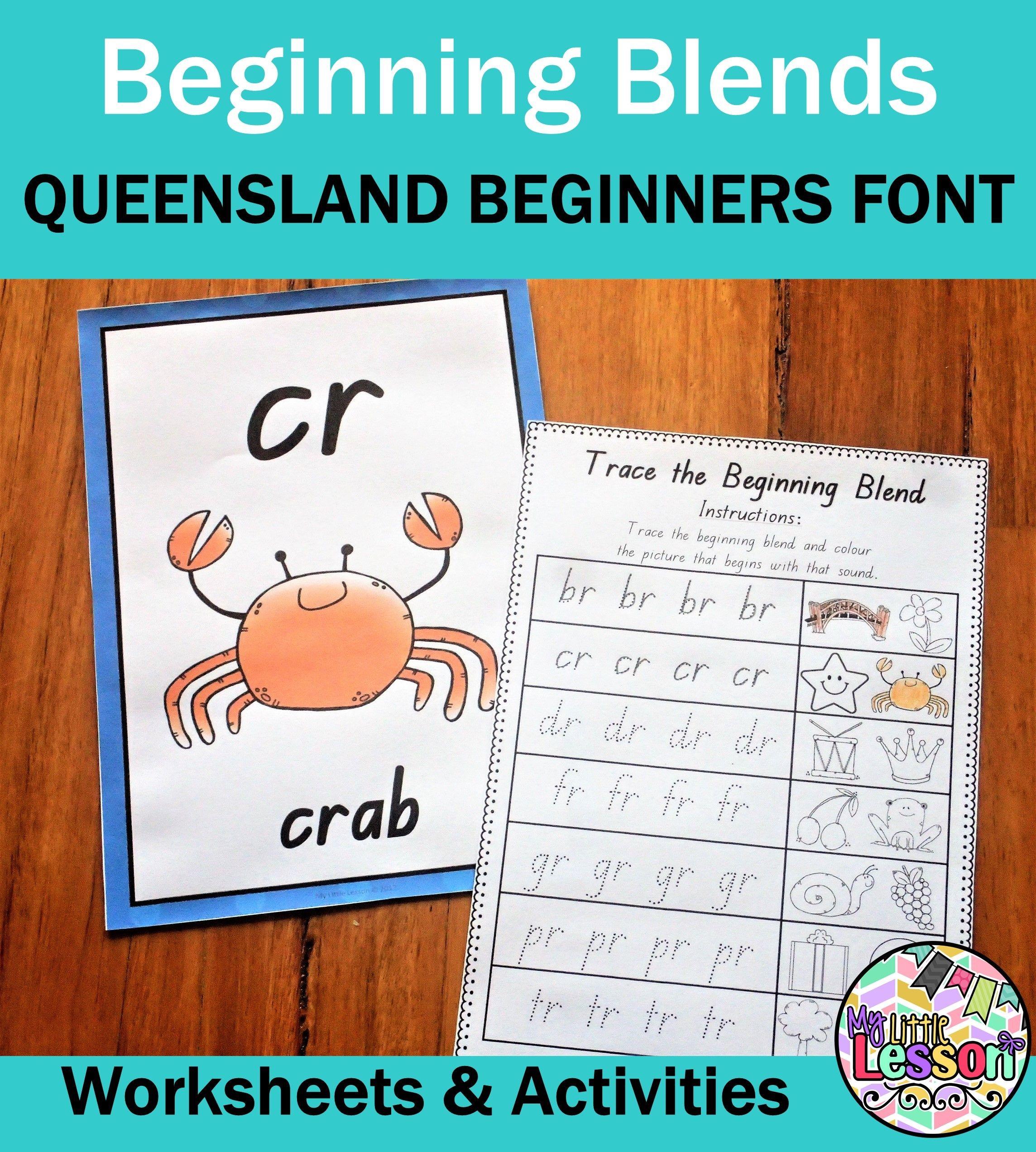 Beginning Blends Br Cr Dr Fr Gr Pr Tr Qld Beginners Font