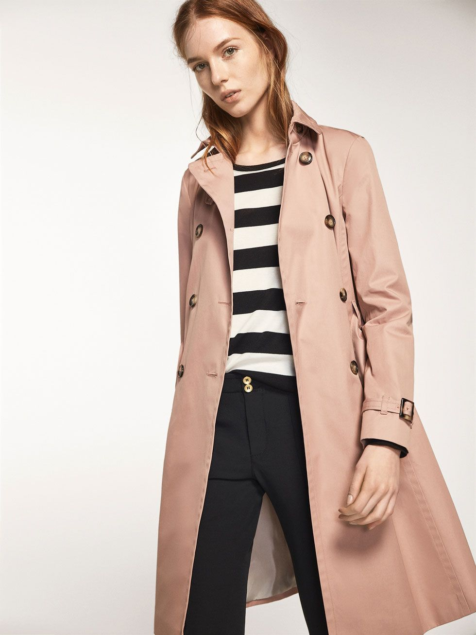 Autumn Winter 2016 Women S Pink Trench Coat At Massimo Dutti For 245 Effortless Elegance Pink Trench Coat Coat Trench Coat