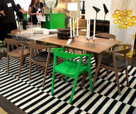 New From IKEA! The Stockholm Table And Chairs, Coming In August U2014  International Contemporary Furniture Fair 2013