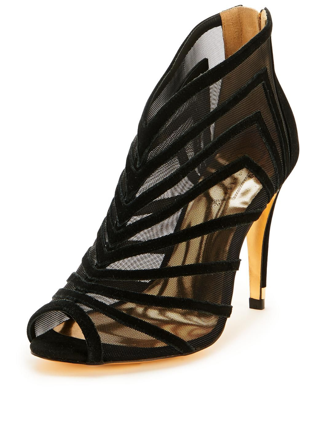 Black sandals littlewoods - Chiantea Cut Out Mesh Shoe Boots Http Www Littlewoods Com