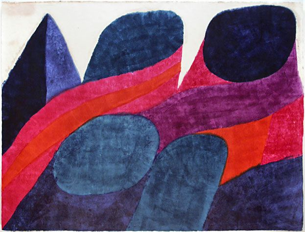 Carol Summers / Rocky Mountains, 1966 Woodcut