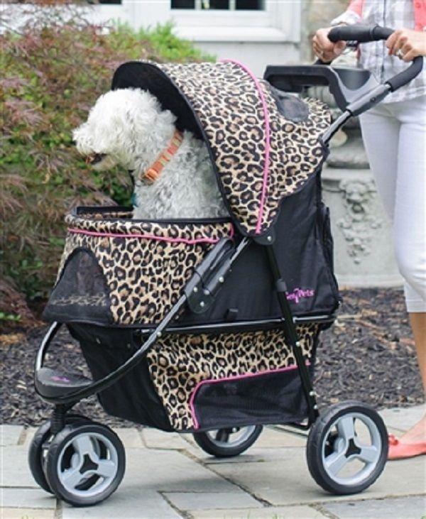 Gen7 Promenade Pet Stroller Black Onyx Rain Drop Or Cheetah Gen7
