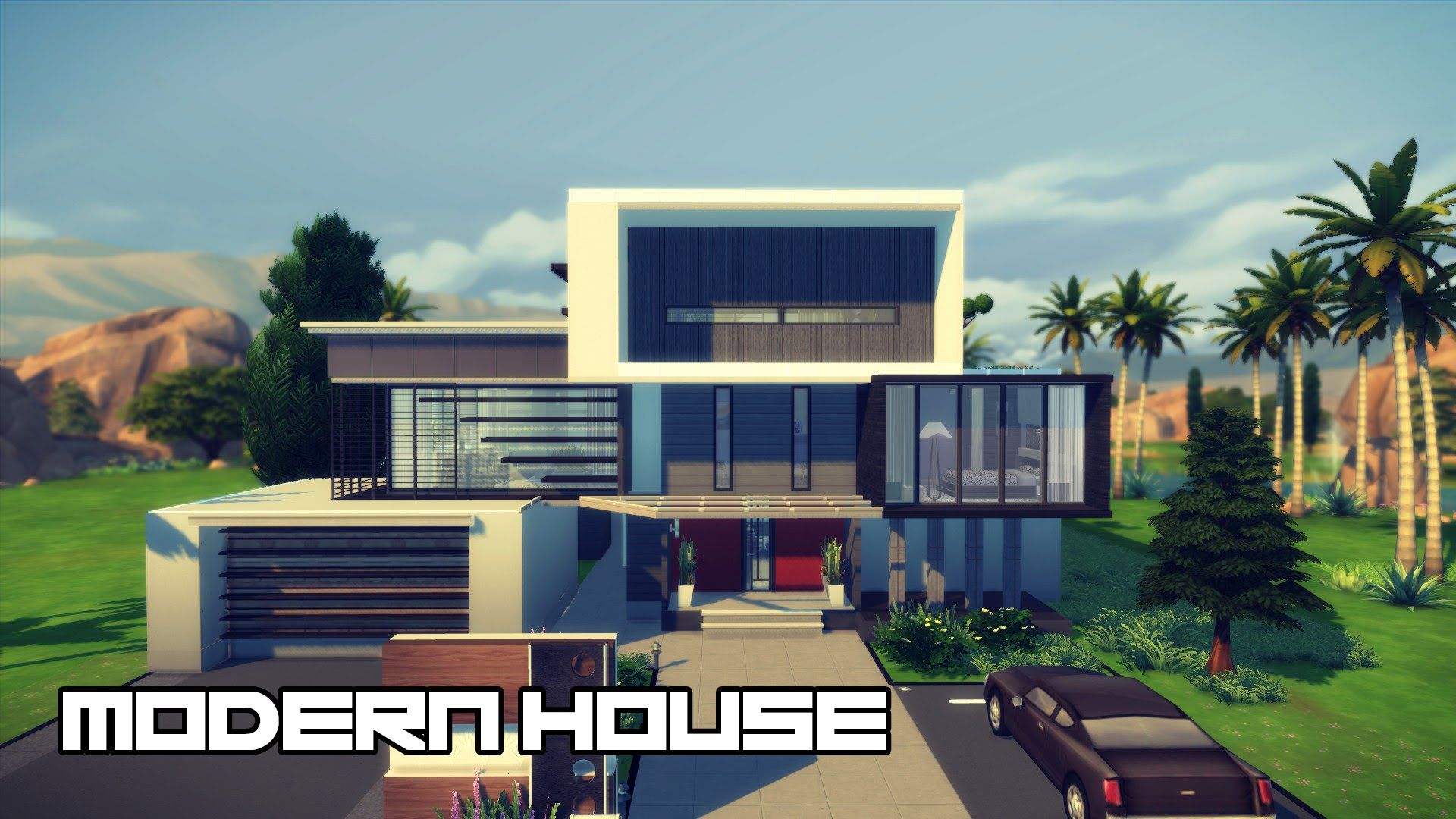 Modern House Design - The Sims 20  Sims 20 modern house, Modern