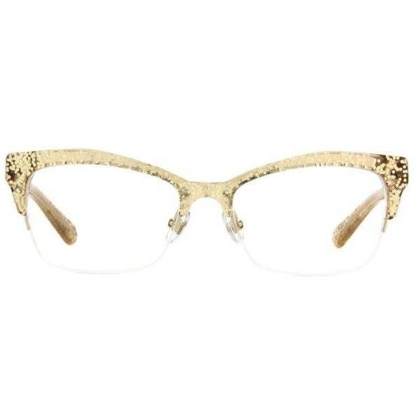 e9561e66c7c Discover ideas about Kate Spade Eyeglass Frames. March 2019. Kate Spade  Lyssa gold or pink glitter framed prescription glasses!