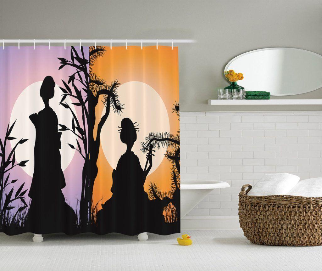 japanese geisha shower curtain | shower curtain | pinterest | more