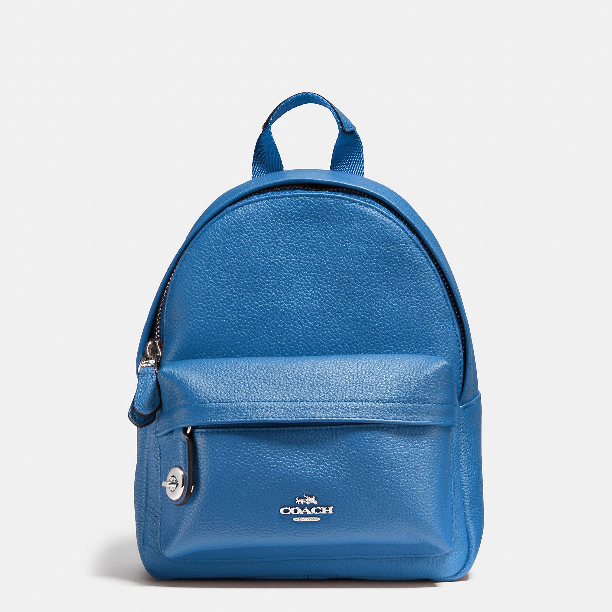 31b241464160 COACH MINI campus backpack in polished pebble leather.  coach  bags  leather   lining  backpacks
