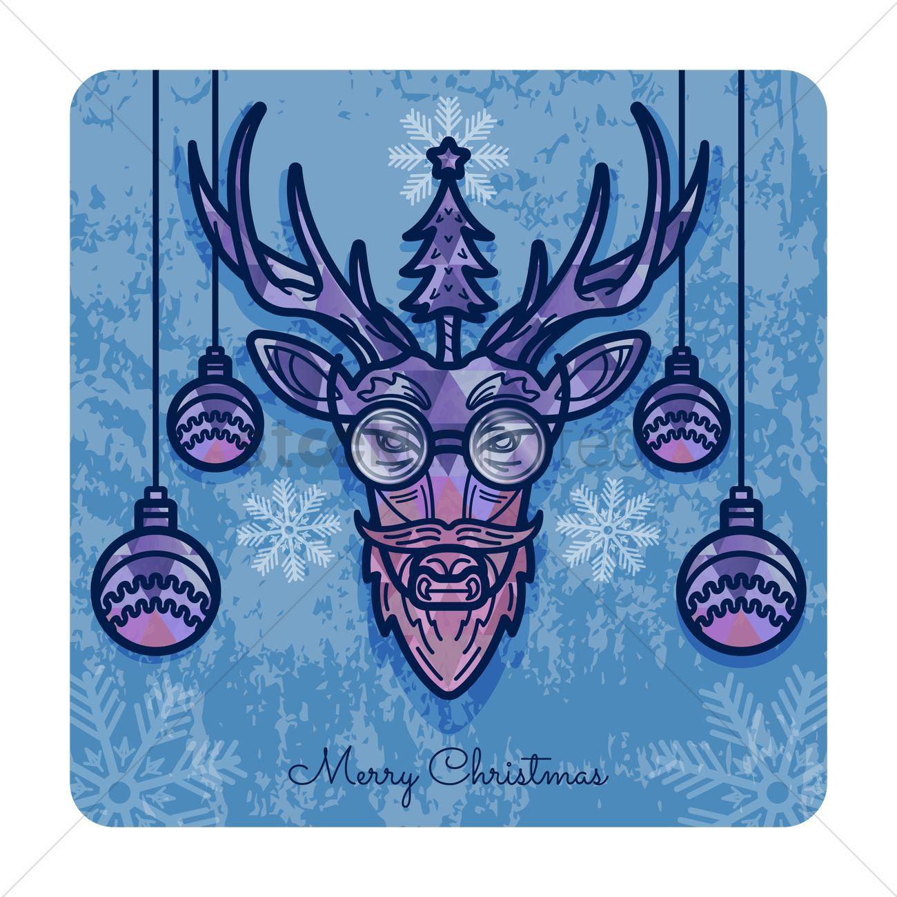 Merry christmas card design vectors, stock clipart ,