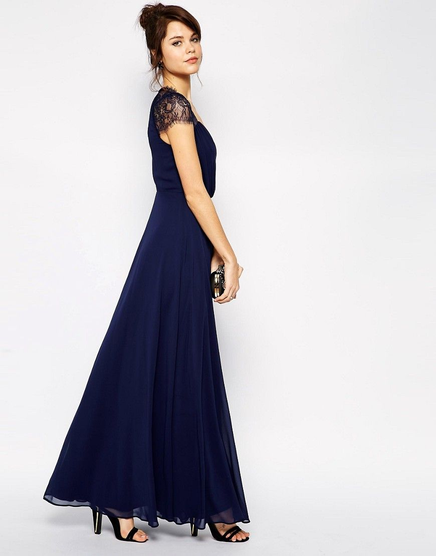 Asos kate lace maxi dress bridesmaids pinterest lace maxi