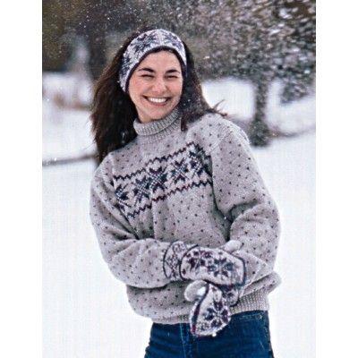 Snowflake Pullover Patons - Free Pattern - Yarnspirations