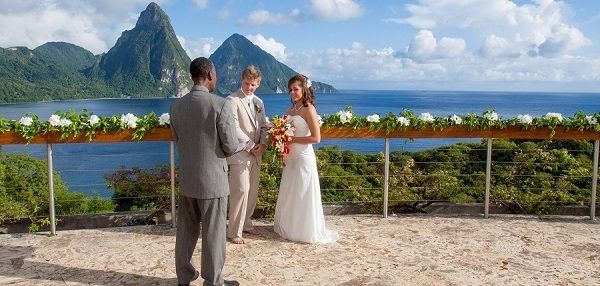 Wedding Venue Celestial Terrace At Jade Mountain St Lucia