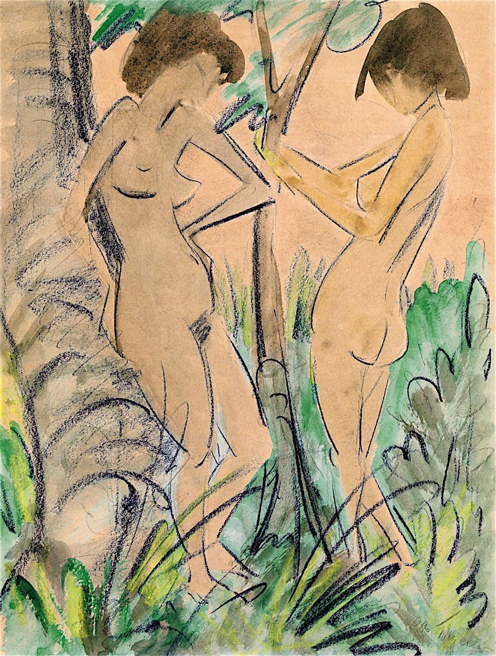 Image result for Mueller Two Nudes in the Woods 1925