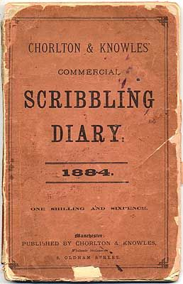 "Scribbling diary.  In the days of yore, people often kept diaries or journals in these ""scribbling diaries."" I believe the British navy issued scribbling diaries and  required sailors to keep daily records or journals. ✭~~hh/"