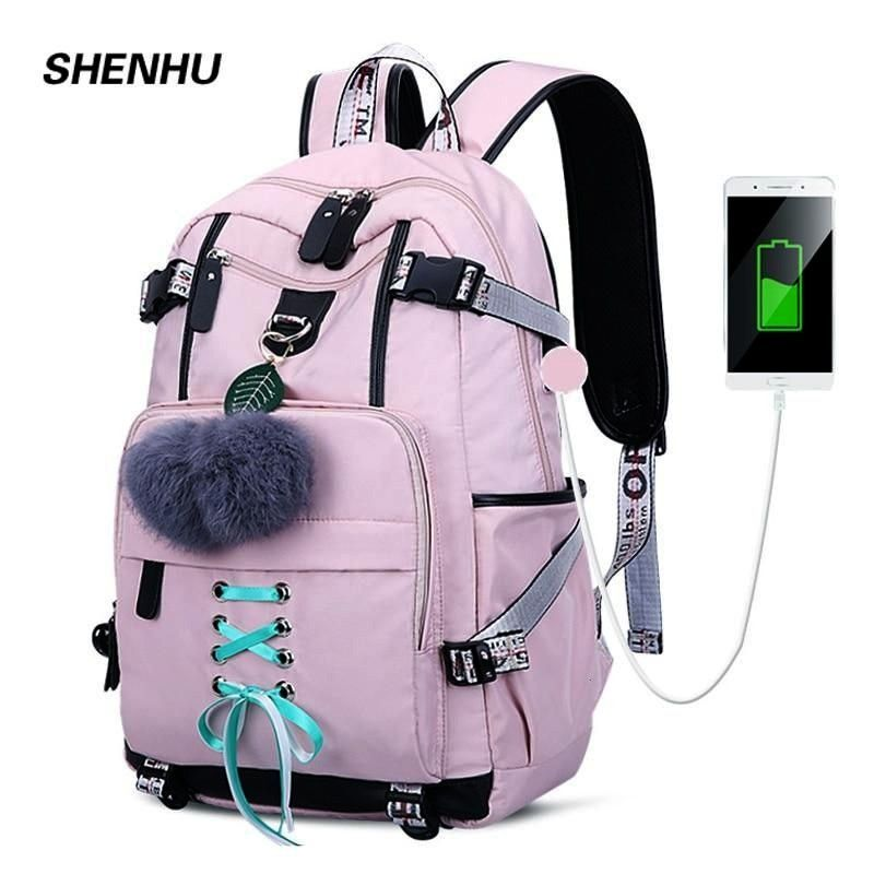 USB charging Backpack with multiple anti-theft compartments By SHENHU USB charging Backpack with mu