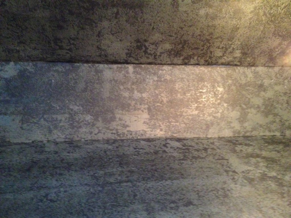 Industrial Chic Etched Cement Plaster Stainless Steel Wall