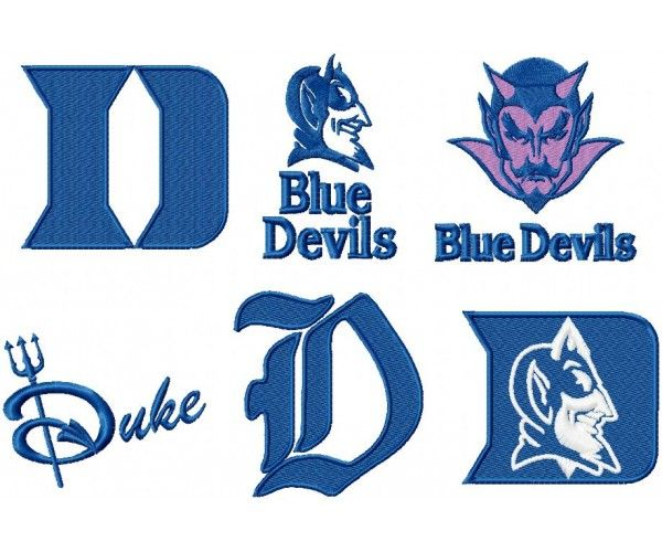 Pin On Duke University Blue Devils 6 Logos Machine Embroidery Design For Instant Download