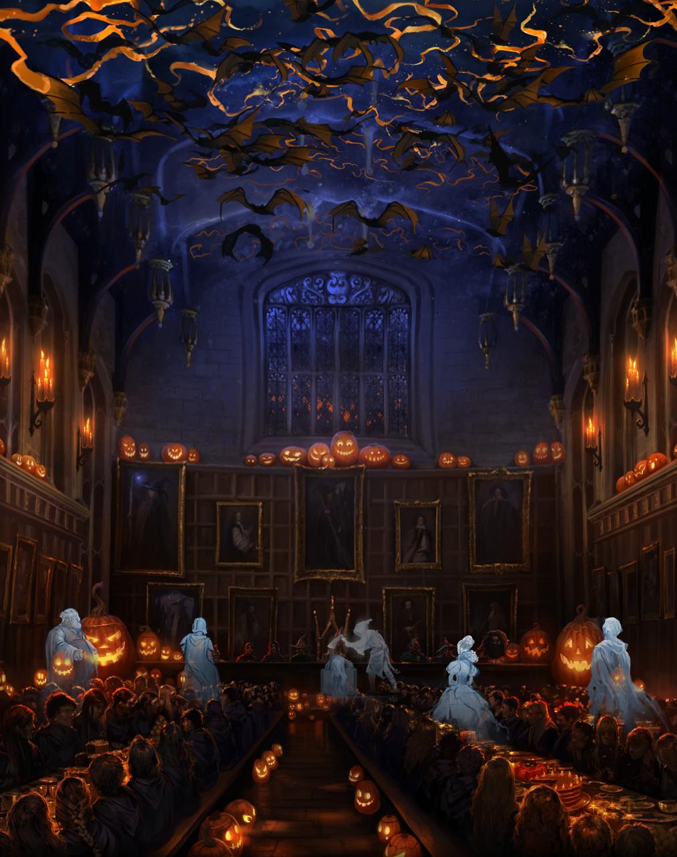 20 harry potter halloween decorations ideas hogwarts hall and harry potter - Deco hal halloween ...