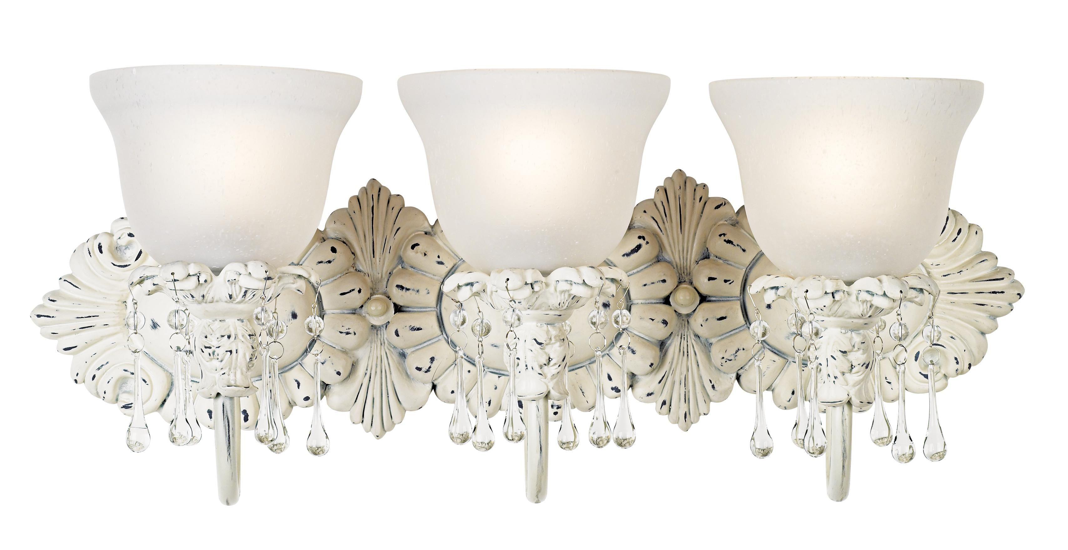 """Fresnel Glass Restoration Bath Light: Old World Designer 24"""" Wide Bathroom Light Fixture"""