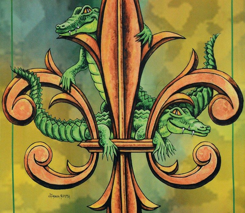 Alligator Fleur De Lis Garden Flag | Love!! | Pinterest | Gardens ...
