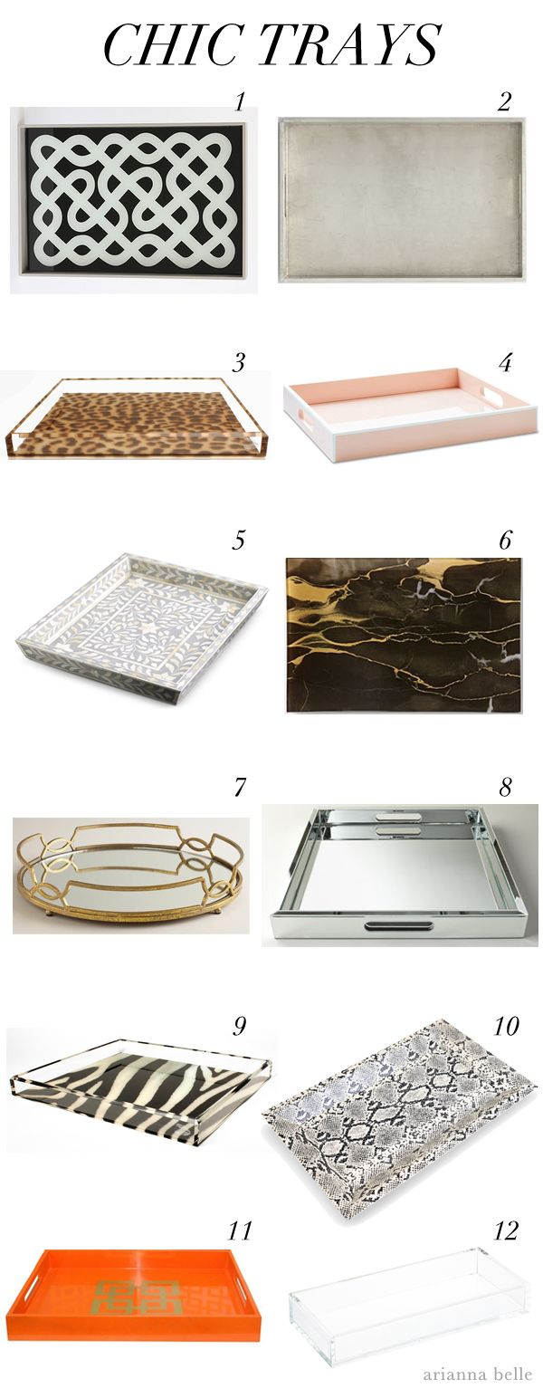 Chic Essentials: Stylish Trays   La Dolce Vita   Decor ...