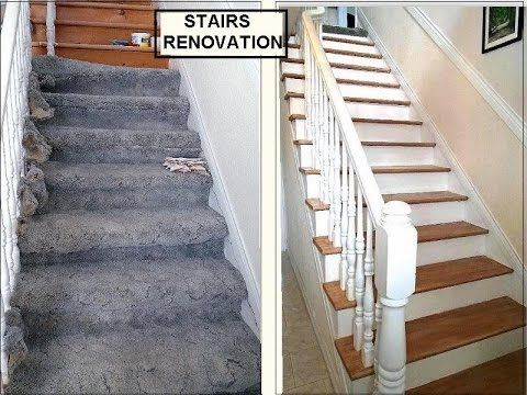 Diy Stairs Renovation With Spindles Remove Carpet