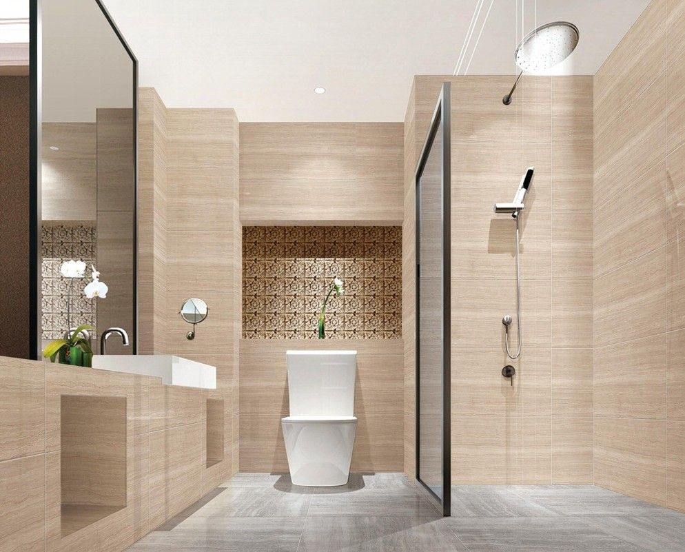 Bathroom small bathroom looks bigger design ideas hidden for Washroom decor ideas