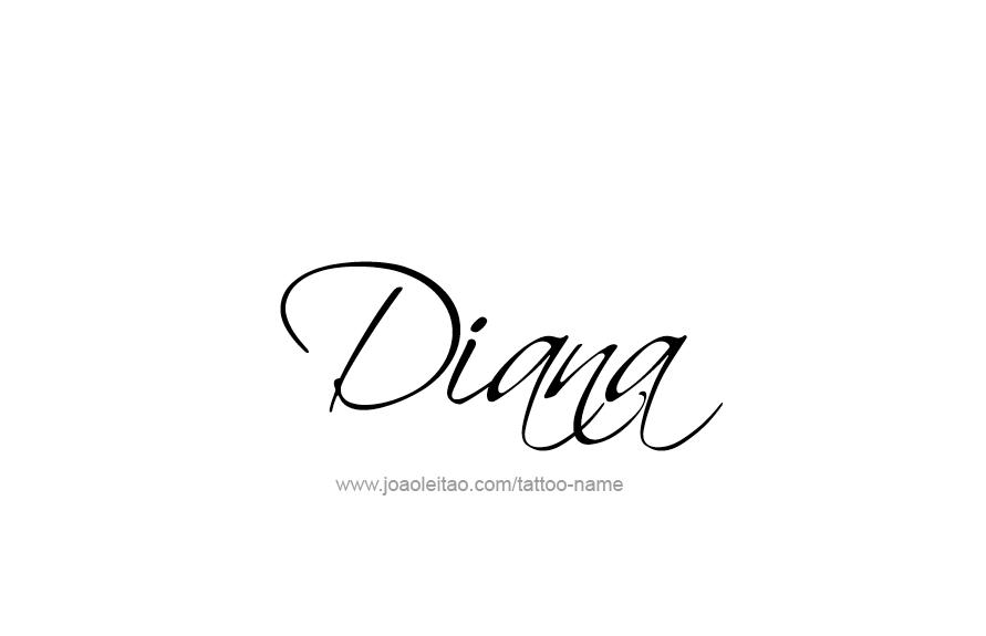 diana name tattoo designs tatto pinterest diana tatuajes y nombres. Black Bedroom Furniture Sets. Home Design Ideas