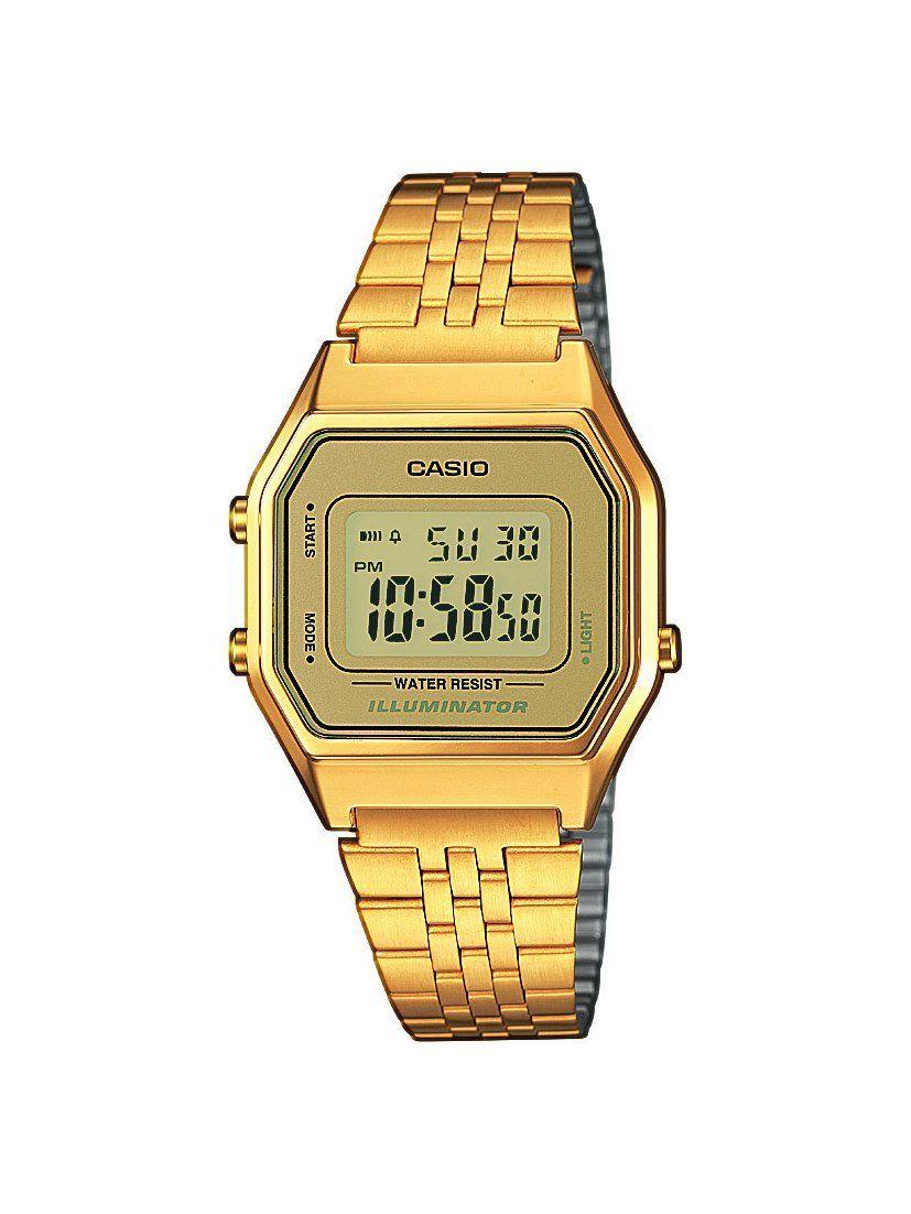 Casio Damen Armbanduhr Casio Collection Digital Quarz Edelstahl La680wega 9er Casio Gold Casio Uhr Retro Uhren