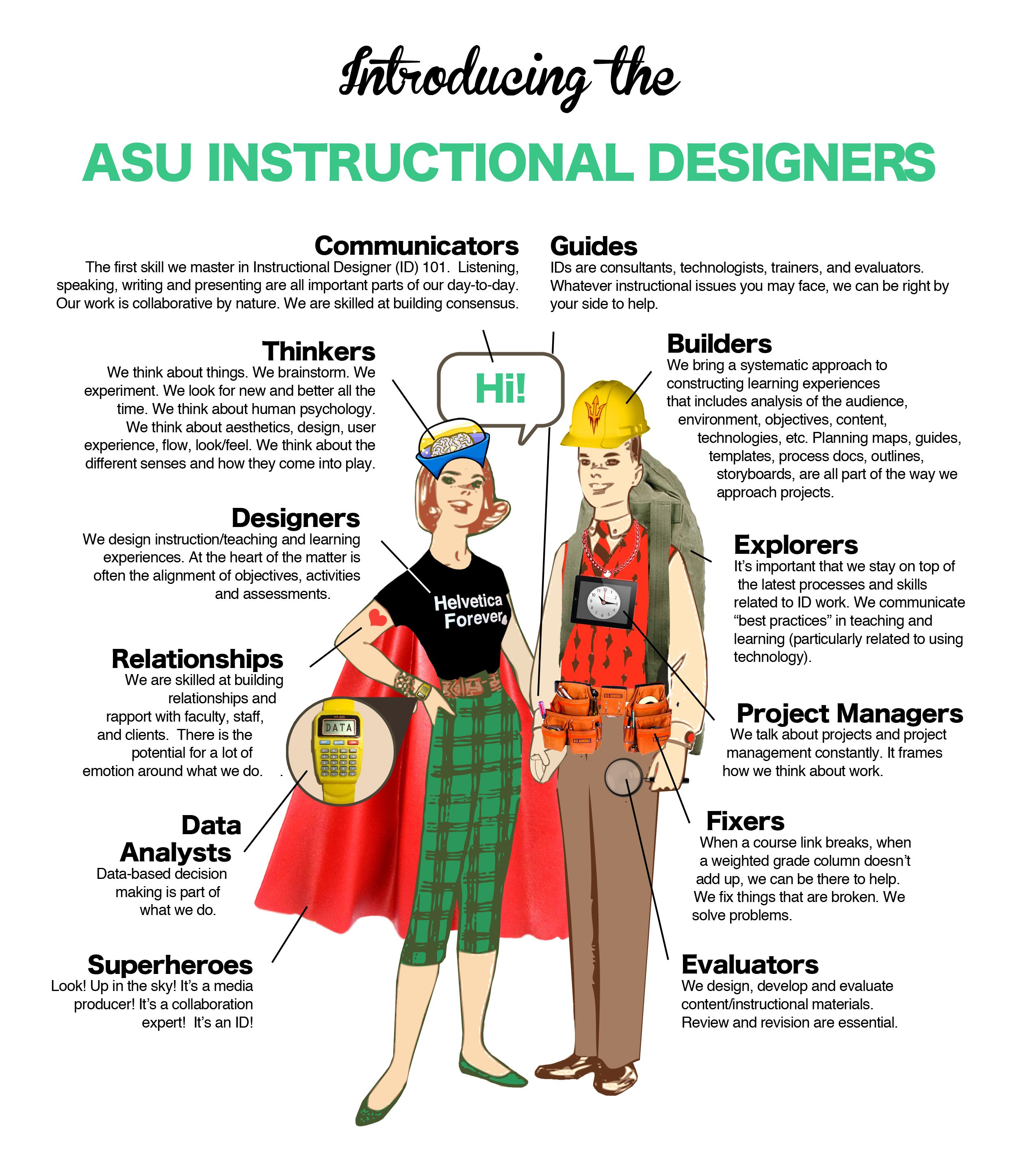 So What Do You Really Mean By Instructional Designer Edsurge News Instructional Design Learning Technology Instructional Design Infographic