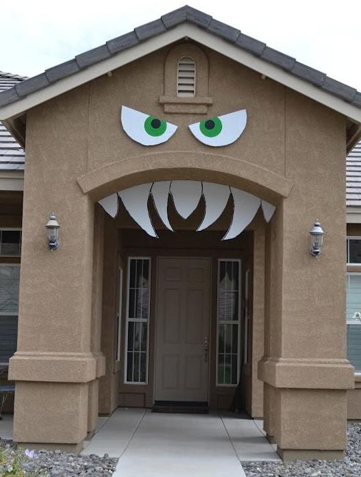Decoraci n halloween para la puerta fiesta de terror - Decoracion para halloween ...