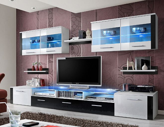 Idea E1 Meuble Tv Mural Modern Wall Units Living Room Wall