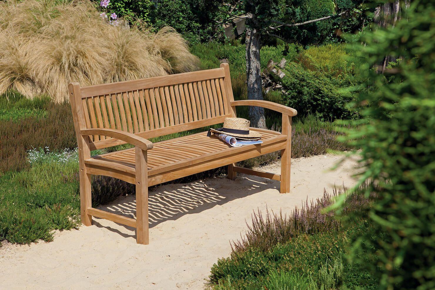 Gartenbank Fortuna aus Bangkirai, versch. Breiten | Mobiliar und ...