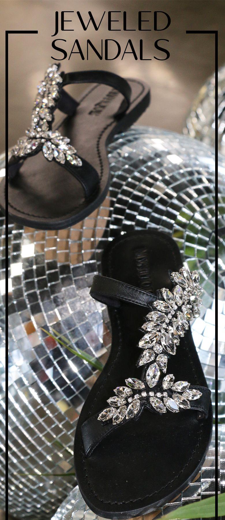 Black Leather Handmade Jeweled Sandals Fashion Giftideas Love Jeweled Sandals Leather Sandals Women Black Wedding Sandals [ 1800 x 780 Pixel ]