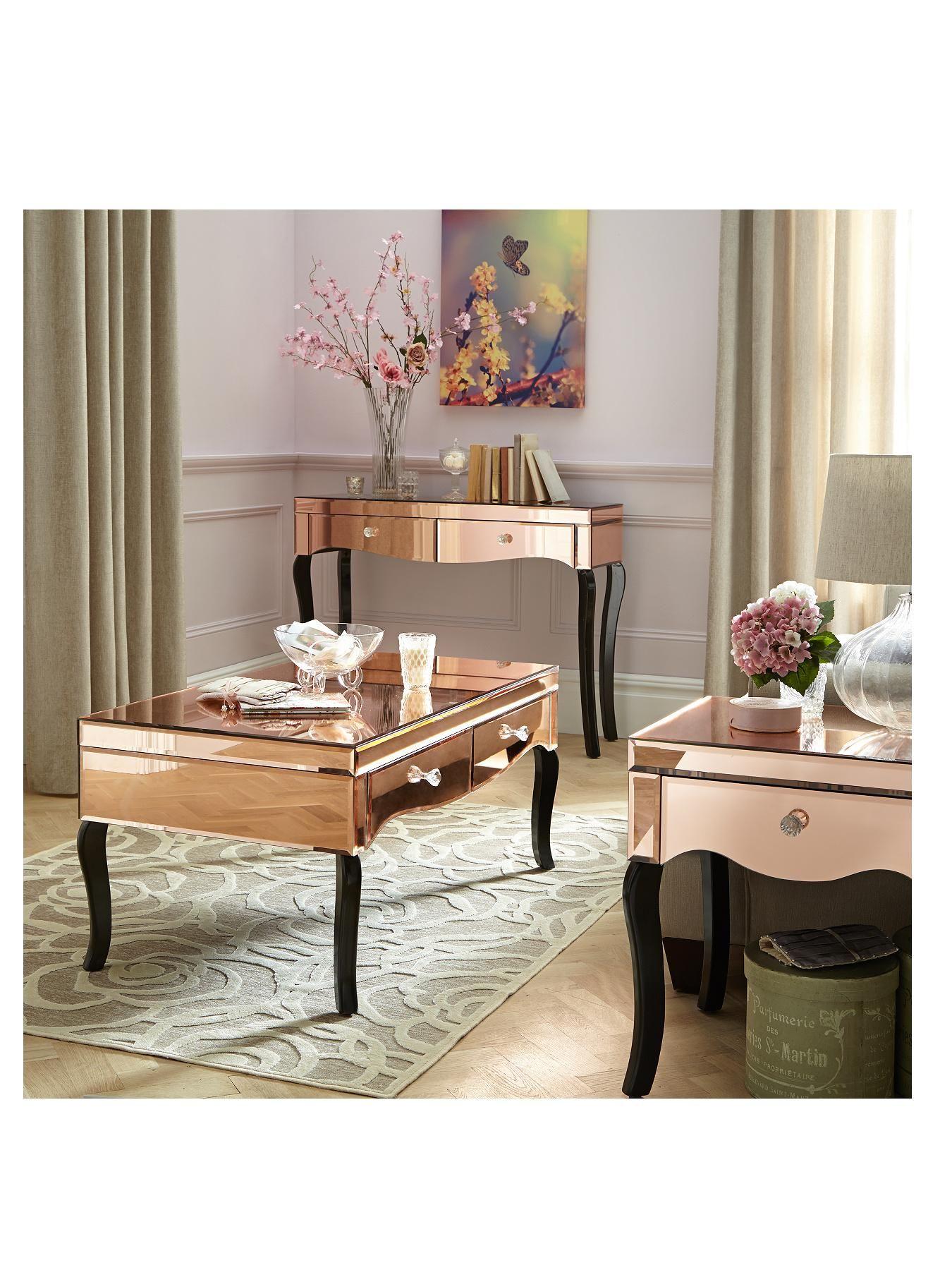 Renee Mirrored Coffee Table very