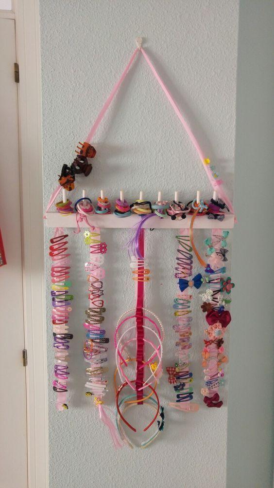 Haarspangen-Organisator - Babyzimmer Deko & Ideen & DIY #kidshairaccessories