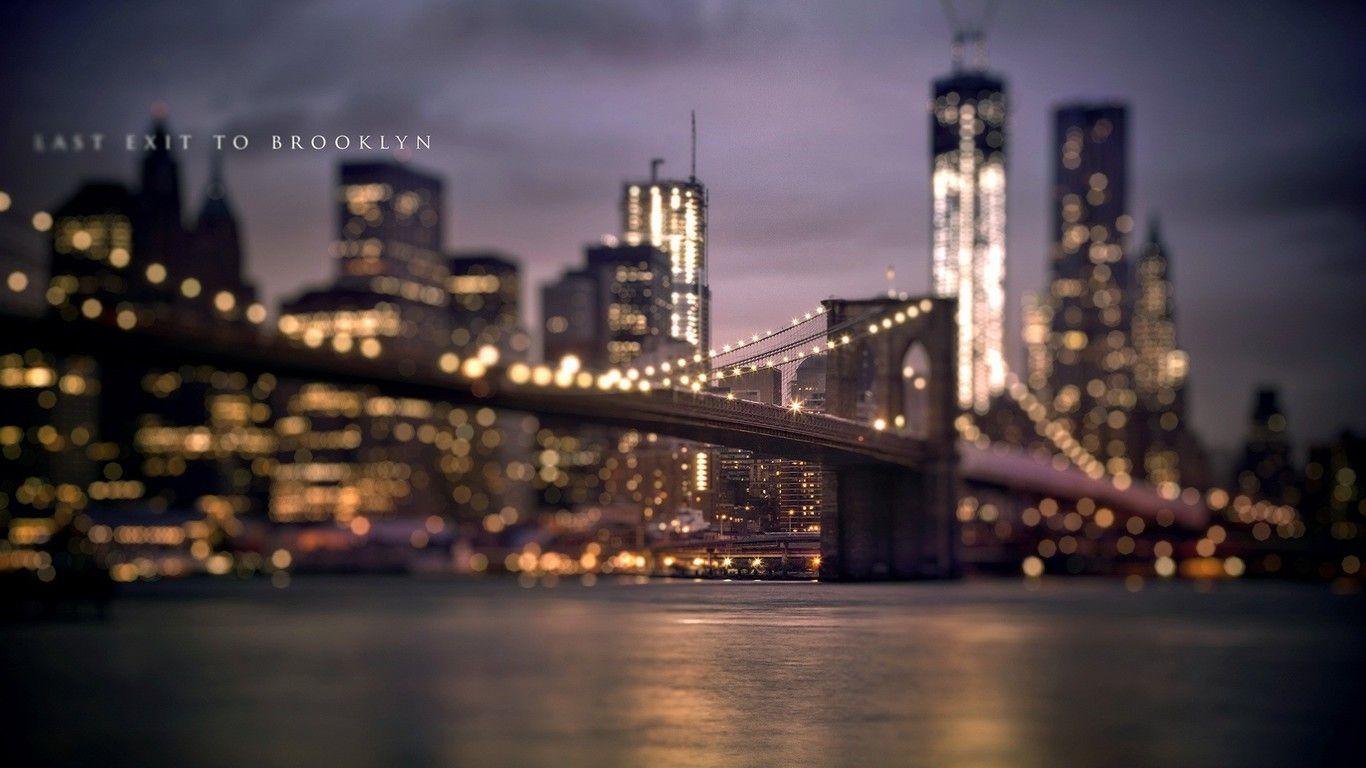 Beautiful Bokeh Bridge Bridges Brooklyn Bridge Usa New York City Wallpaper Allwallpape New York Wallpaper Brooklyn Bridge New York New York City Background