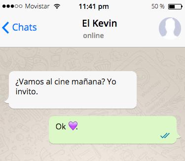 Mucho cuidado cuando le envíes a alguien el emoji de corazón morado.