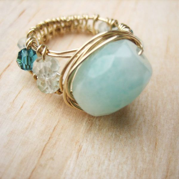 Jewelry Tutorial - Wire Wrapped Wide band Ring ... | Jewelry ...