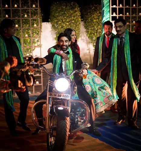 Photos every Indian bride must have with her brother - entry on a bike