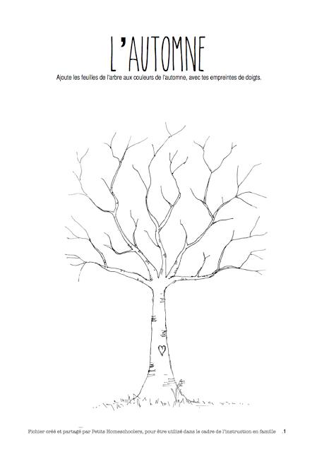 petits homeschoolers: Fichier d\'activités sur l\'automne-free ...