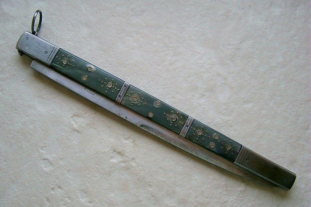 ANCIEN COUTEAU NIMOIS OU GARDOIS CORNE SUD DE LA FRANCE 19e SIECLE | eBay
