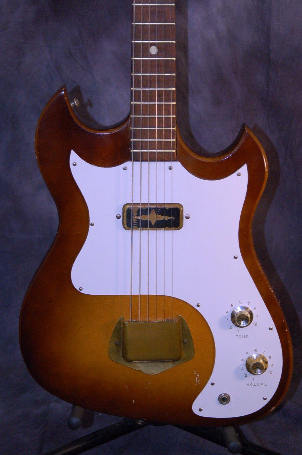 Vintage Rare 1964 Custom Kraft By Kay Vanguard Guitar Pro Setup Original Case Ebay Give Lawman Guitars A Cal Vintage Electric Guitars Guitar Electric Guitar