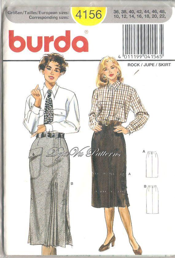 Burda 4156 Misses' Chic Pleated Skirt Sewing by DejaVuPatterns, $14.99